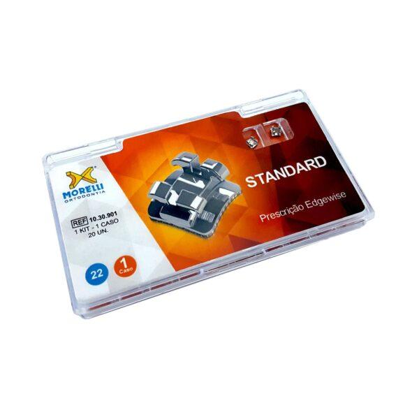 """Kit de Bráquetes 01 caso Prescrição Edgewise - Standard .022"""""""
